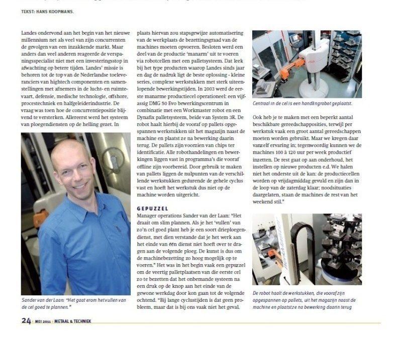 11-07 Metaal&Techniek, Landes 10 jaar automatisering