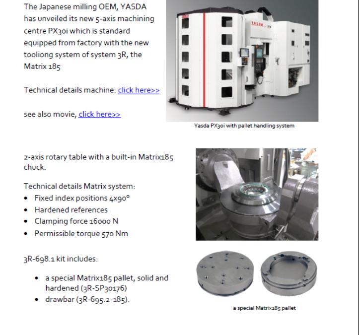 17-04 PN yasda px30i with matrix tooling system