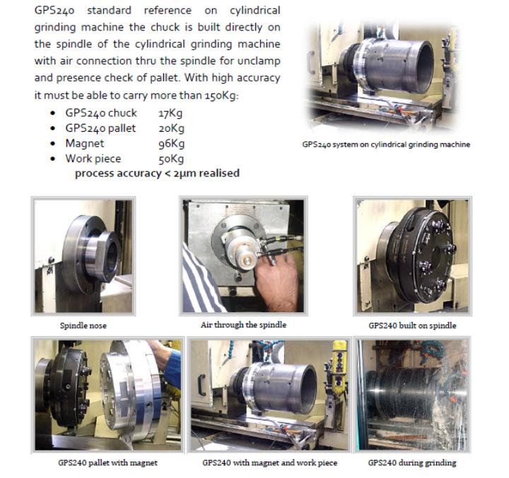 17-06 PN GPS240 on cylindrical grinder