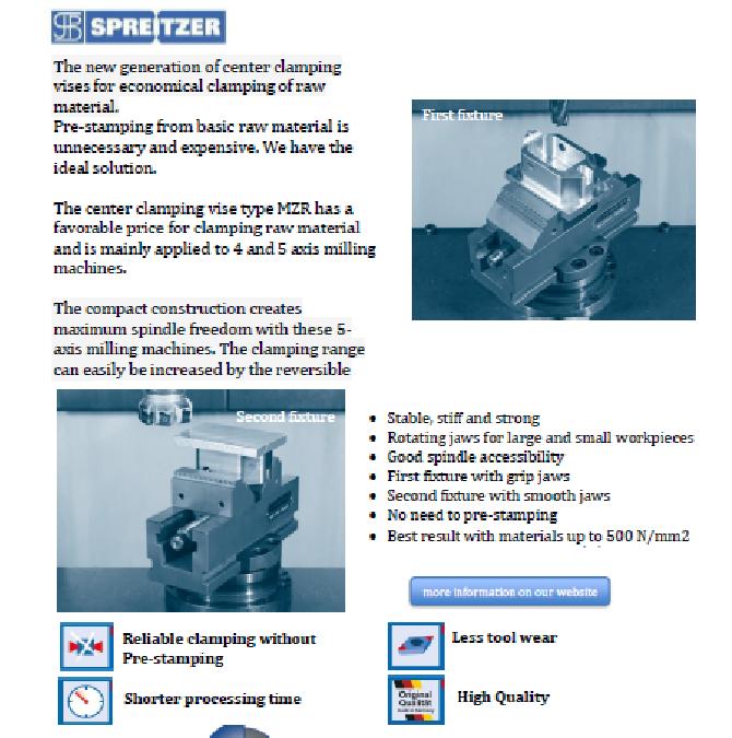 18-12 PN Spreitzer MZR Mechanical center-clamping